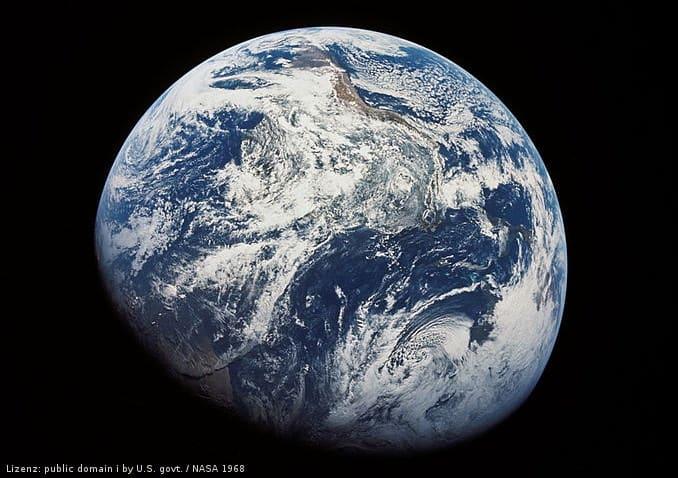 Appolo 8 Sicht auf Erde 1968
