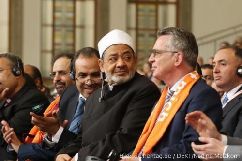 kirchentag 2017 Sheikh Al-Tayyeb Thomas de Maiziere
